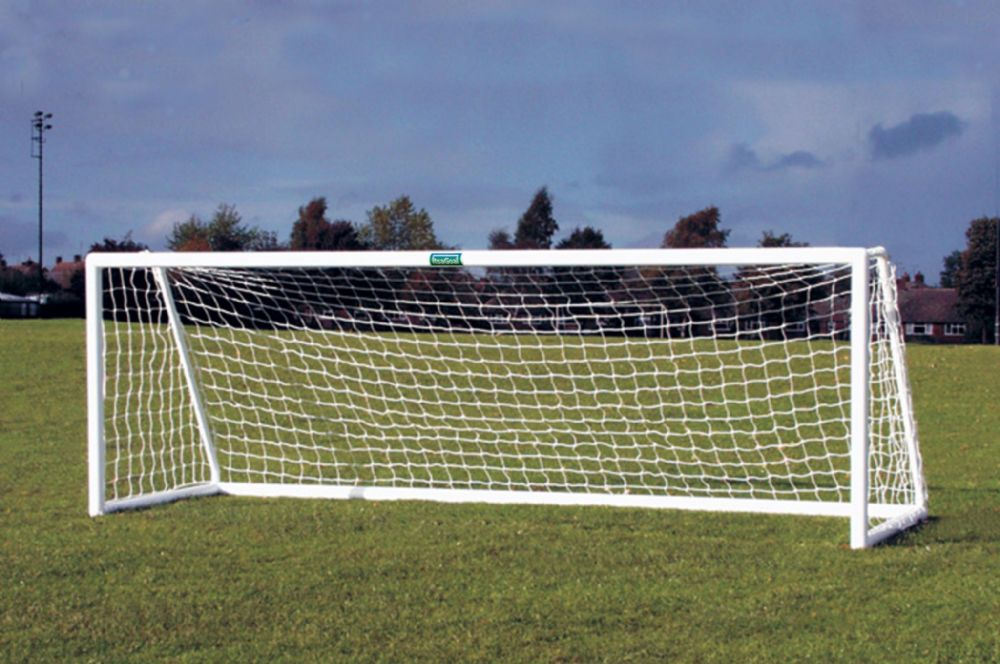 PLASTIC FOOTBALL GOAL 12'X 4'  THREE SECTION CROSSBAR